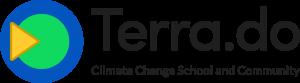 Terra logo, typeface, tagline (transparent)